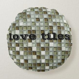 mozaic Kissenblick-Liebe Rundes Kissen