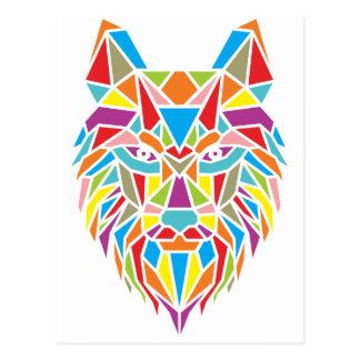 mozaic Wolf Postkarte