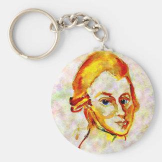 Mozart-Porträt eins Schlüsselanhänger