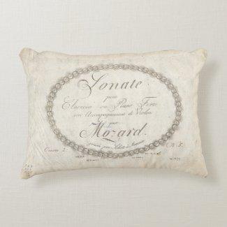 Mozart Sonata Kissen Accent Pillow