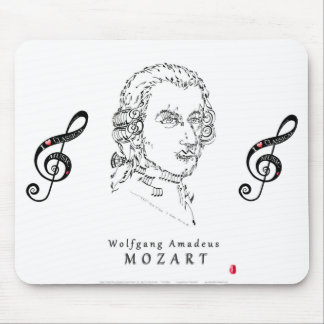 Mozart stellen die Musik gegenüber Mauspads