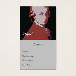 Mozart-Visitenkarte Visitenkarte