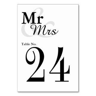 Mr&Mrs einfache elegante Typografie-Hochzeit