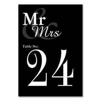 Mr&Mrs einfache elegante Typografie-Hochzeit Karte