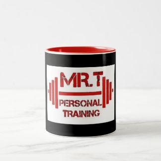 Mr.T persönliches Trainings-rote Logo-Tasse Zweifarbige Tasse