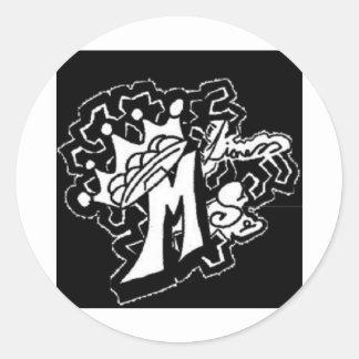 ms.lioness Entwurf Runde Aufkleber