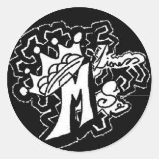 ms.lioness Entwurf Runder Aufkleber