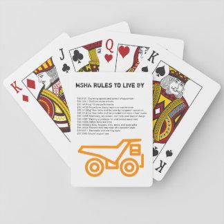 MSHA Regeln, zum vorbei zu leben Spielkarten