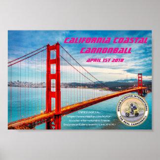 MSILSF Kalifornien Küstenkanonenkugel Poster