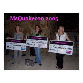 MsQuakecon girlz 2005 des Zerstörungsgewinns Postkarte