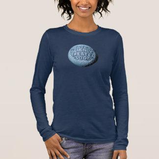 MST3K Mond-langer Hülsen-T - Shirt (Marine)