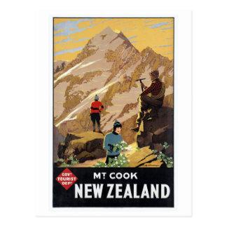Mt.Cook Neuseeland GebirgsVintage Reise Postkarte