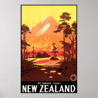 Mt. Egmont Neuseeland Poster