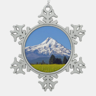 Mt-Haube Oregon Schneeflocken Zinn-Ornament