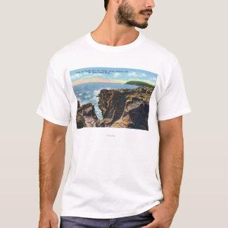 Mt. Insel-Ansicht des Donner-Lochs T-Shirt