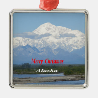 Mt. Mckinly oder Denali Silbernes Ornament