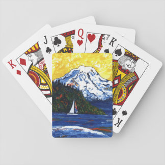 Mt regnerischer spielkarten