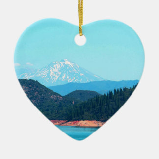 Mt Shasta Keramik Herz-Ornament