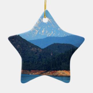 Mt Shasta Keramik Ornament
