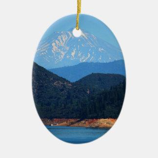 Mt Shasta Ovales Keramik Ornament