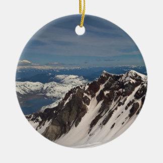 Mt.-St. Helen, die dort, getan dem gewesen wird Rundes Keramik Ornament