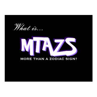 MTAZS Krebs-Siebungs-Erinnerungs-Postkarte Postkarte