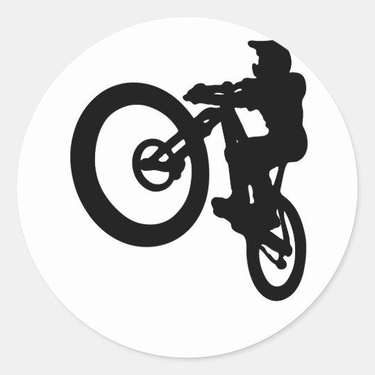MTB-Jump Runder Aufkleber