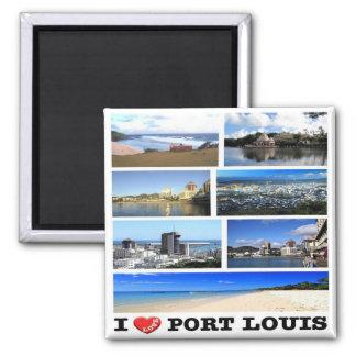 MU - Mauritius - i-Liebe - Collagen-Mosaik Quadratischer Magnet