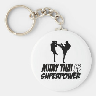 Muay thailändische Supermacht-Entwürfe Schlüsselanhänger