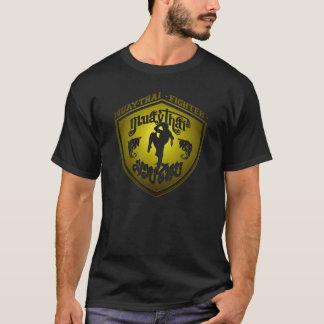 Muay thailändisches Kämpfer-Gold T-Shirt