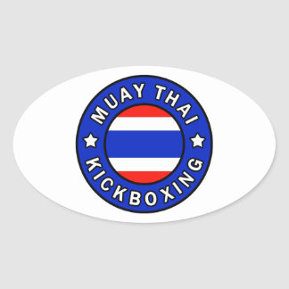 Muay thailändisches ovaler aufkleber