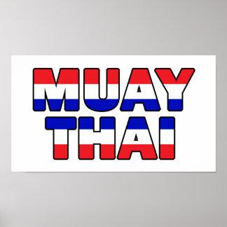 Muay thailändisches poster