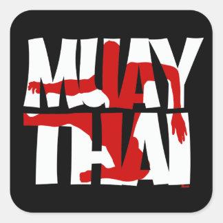 Muay thailändisches Quadrat-Aufkleber