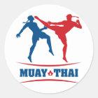 Muay thailändisches runder aufkleber