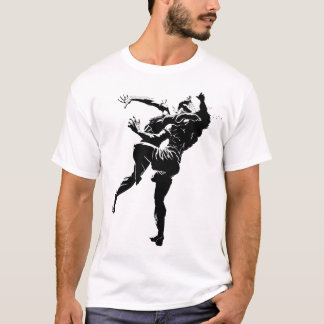 Muay thailändisches Schwarzes/Weiß T-Shirt