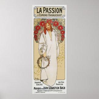 Mucha Plakat: La-Leidenschaft die Leidenschaft von Poster