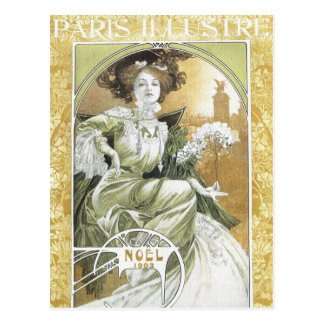 Mucha Postkarte:   Alphonse Mucha - Kunst Nouveau Postkarte