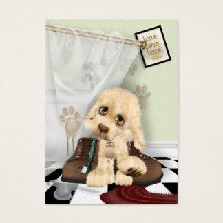 Mucky Welpe personalisiert Visitenkarte
