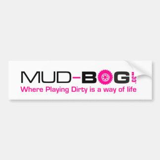Mud-Bog.com: Wo ist das Spielen schmutzig eine Autoaufkleber