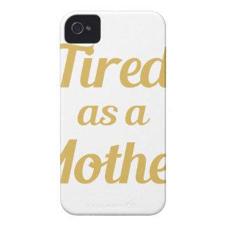 Müde als Mutter iPhone 4 Cover