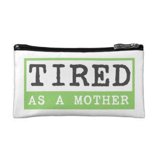 Müde als Mutter: Mutteren-Spaß Makeup-Tasche