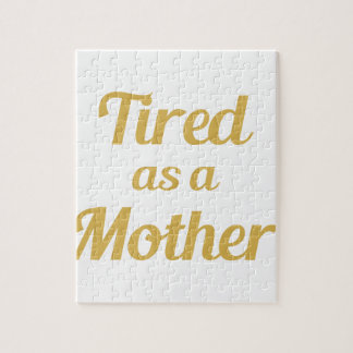Müde als Mutter Puzzle