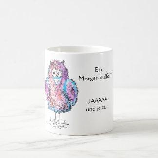 Müde Eule Kaffeetasse