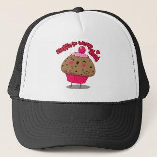 Muffin, zum sich ungefähr zu sorgen truckerkappe