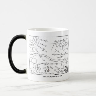 Mug How physicists see the world ,[RIGHT HANDED] Verwandlungstasse