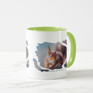 MUG Squirrel KAFFEEBECHER Eichhörnchen  by GLINEUR Tasse