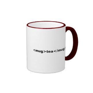 <mug>Tee</mug> Ringer Tasse