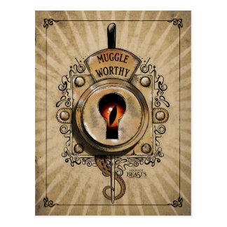 Muggle angemessener Verschluss mit dem Postkarte