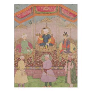 Mughal Kaiser Babur und sein Sohn, Humayan Postkarte