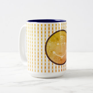 Mugs_Anchor_Peach_Checks_ Zweifarbige Tasse